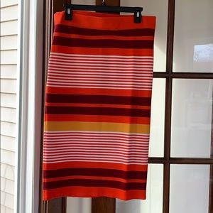New York and co striped skirt
